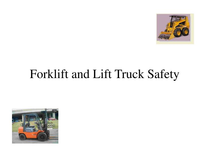 forklift and lift truck safety n.