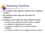 detecting overflow