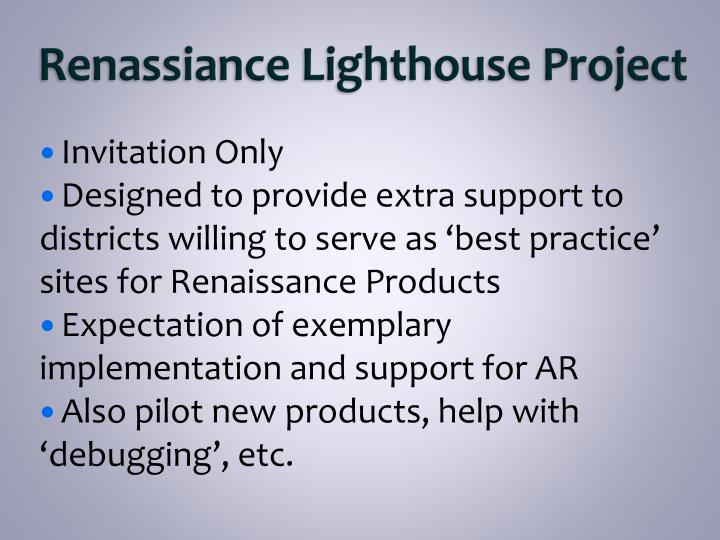 Renassiance lighthouse project