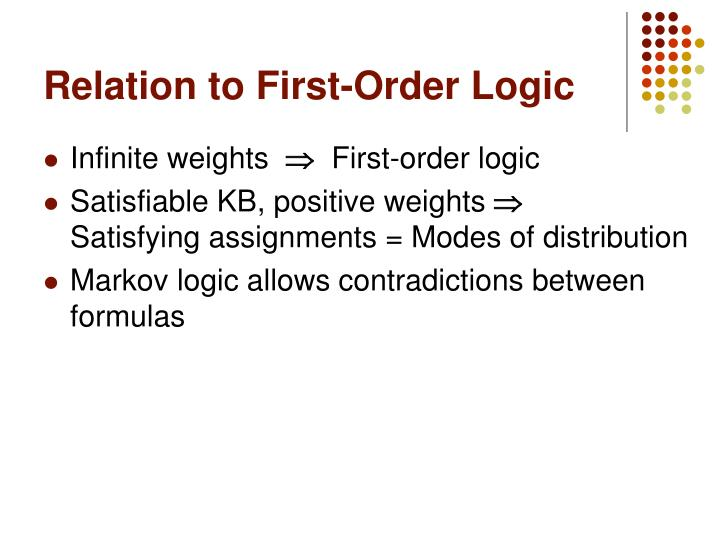 Relation to First-Order Logic