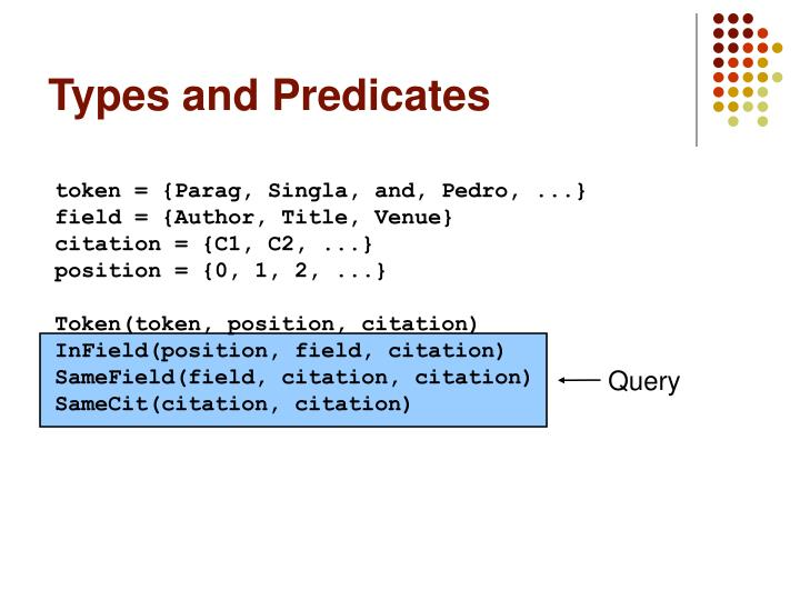 Types and Predicates