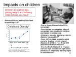 impacts on children