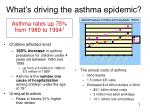 what s driving the asthma epidemic