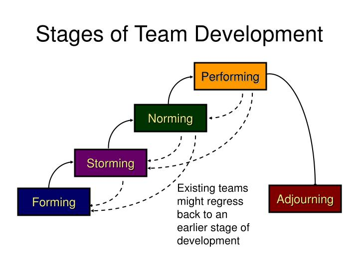 the stages of team development Stage 4 - performing in this final stage the team becomes more strategically aware, they know what they are doing and why they continue to be invaluable as a source of advice for personal and interpersonal development as well as for reward and recognition.