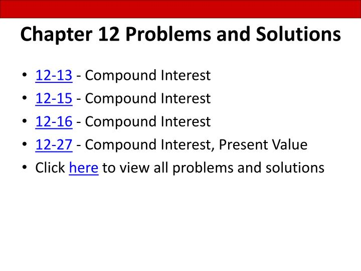 chapter 12 problems and solutions n.