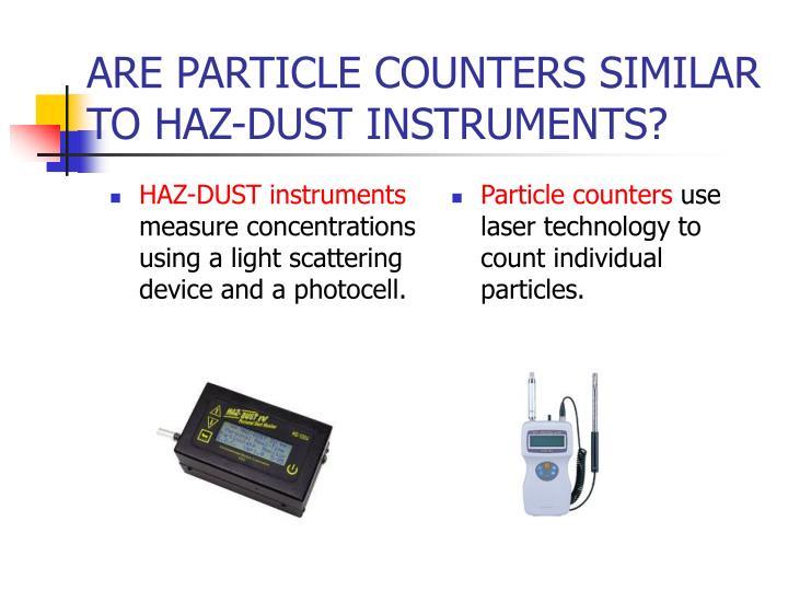 HAZ-DUST instruments