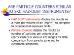 are particle counters similar to skc haz dust instruments