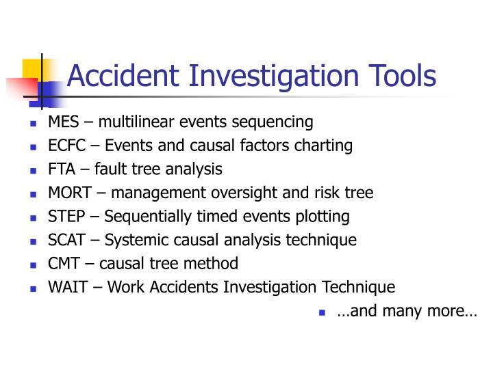 Accident Investigation Tools