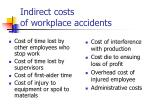 indirect costs of workplace accidents
