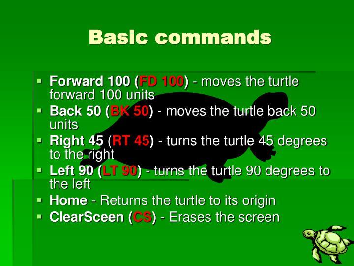 Basic commands