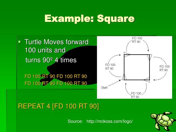 Example: Square