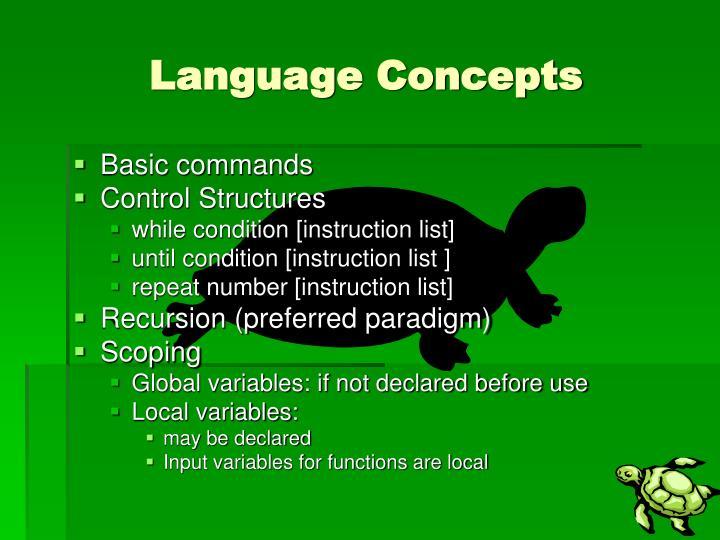Language Concepts