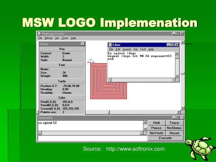 MSW LOGO Implemenation