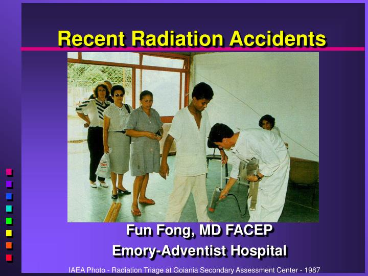 recent radiation accidents n.