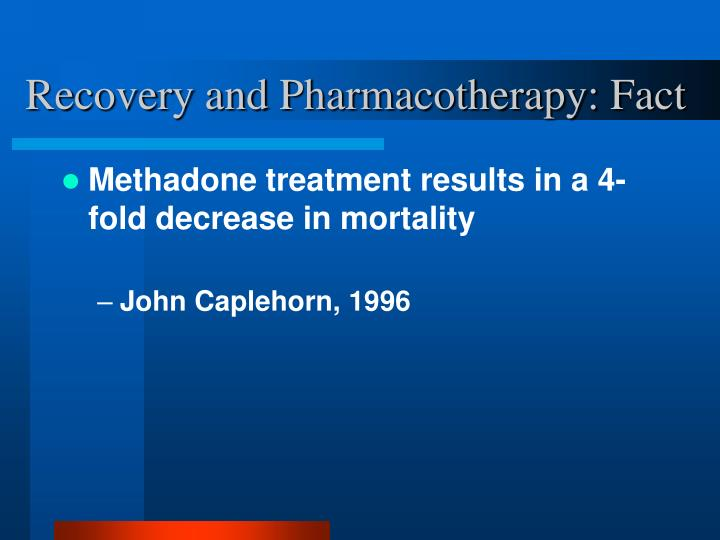 Recovery and Pharmacotherapy: Fact