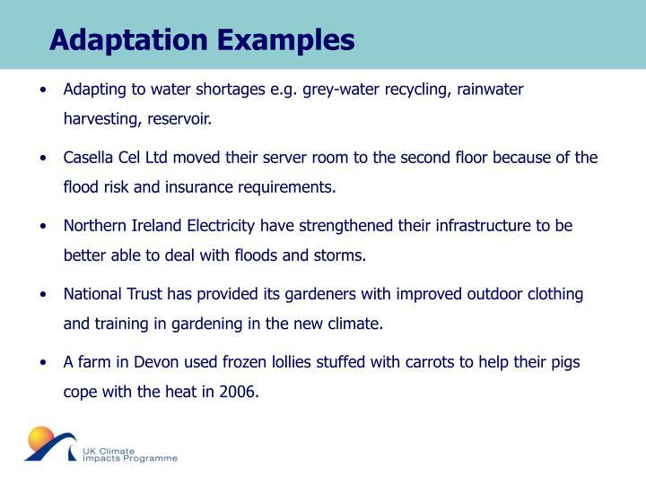 Adaptation Examples
