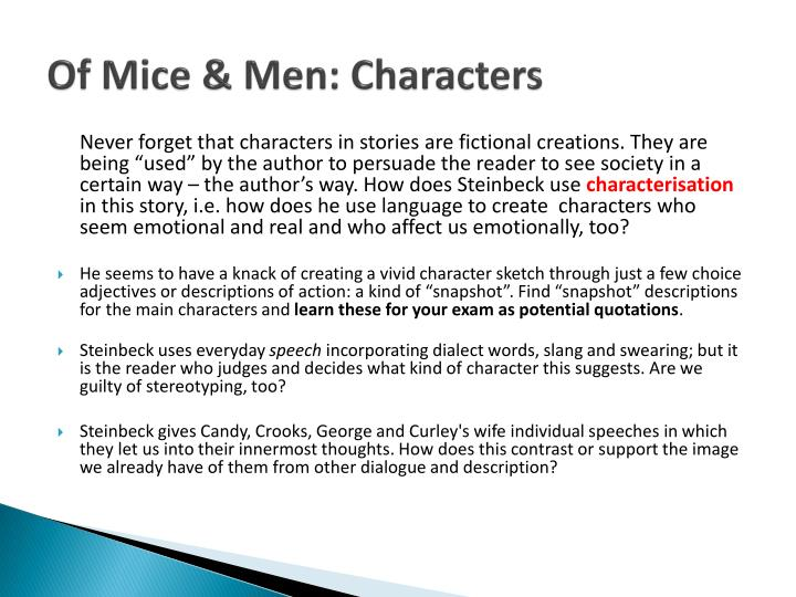 mice of men characters