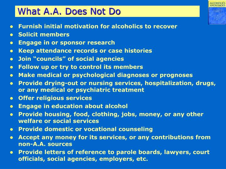 What A.A. Does Not Do