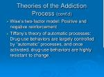 theories of the addiction process cont d