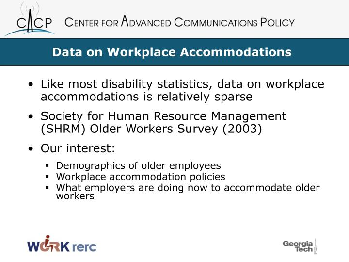 Data on Workplace Accommodations