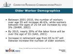 older worker demographics