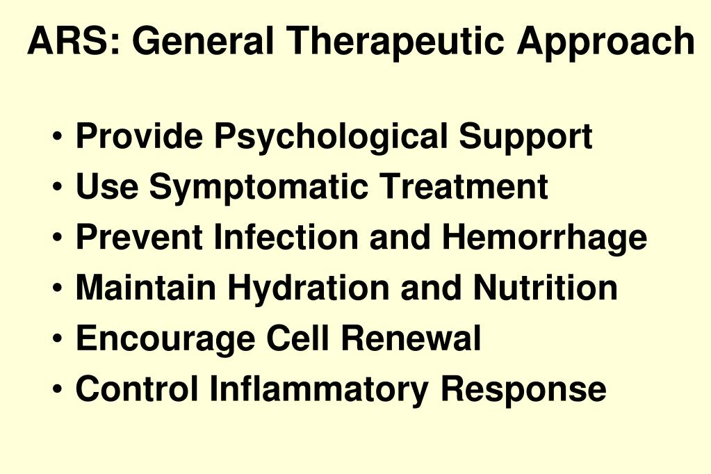 ARS: General Therapeutic Approach