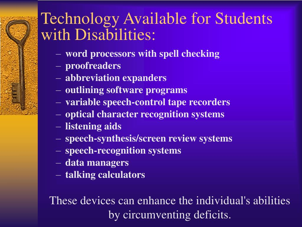 Technology Available for Students with Disabilities:
