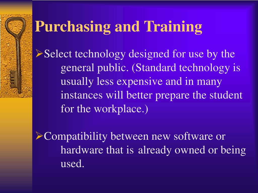 Purchasing and Training