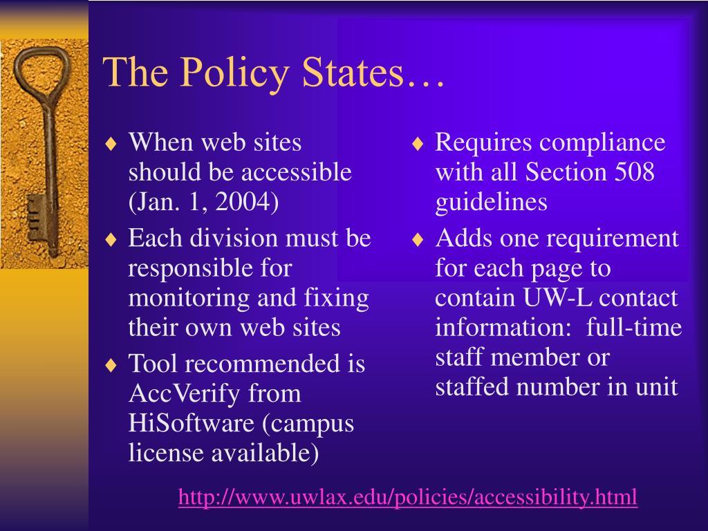 When web sites should be accessible (Jan. 1, 2004)