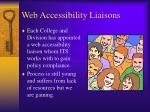 web accessibility liaisons