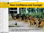 have confidence and courage