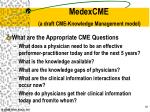 medexcme a draft cme knowledge management model