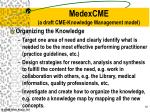 medexcme a draft cme knowledge management model1