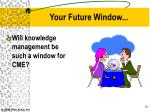 your future window