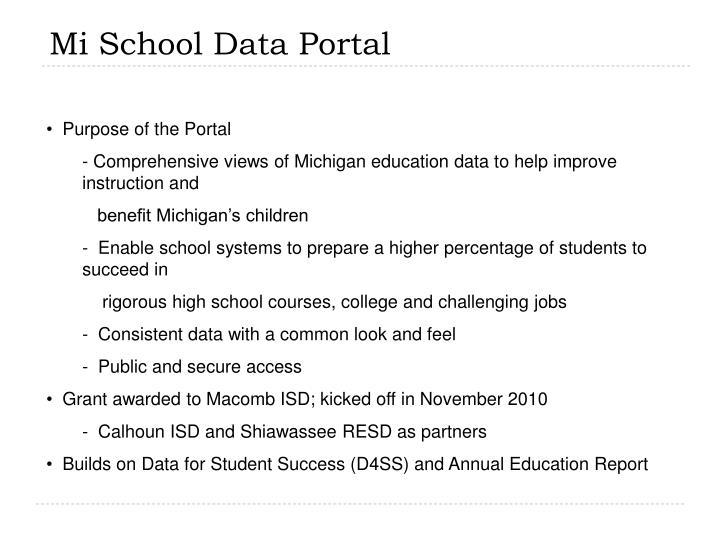 Mi School Data Portal