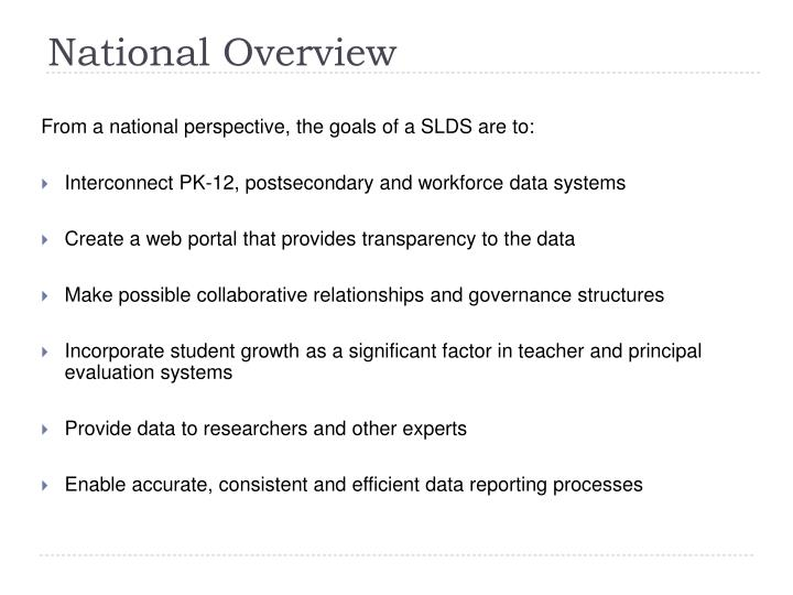 National Overview