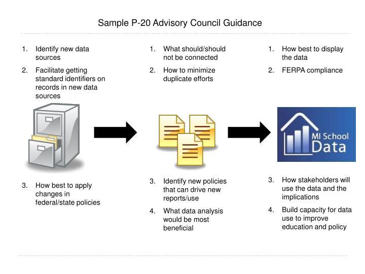 Sample P-20 Advisory Council Guidance