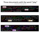 three documents with the word play numbers colors topic assignments
