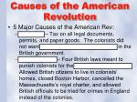 causes of the american revolution1