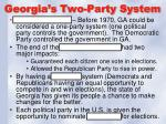 georgia s two party system