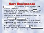 new businesses