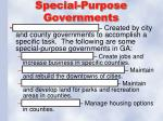 special purpose governments