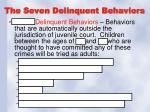 the seven delinquent behaviors