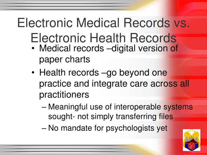 Electronic Medical Records vs. Electronic Health Records