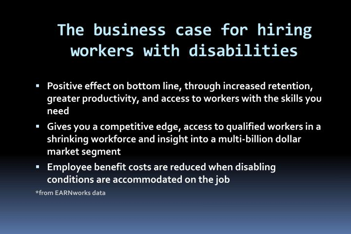 The business case for hiring workers with disabilities