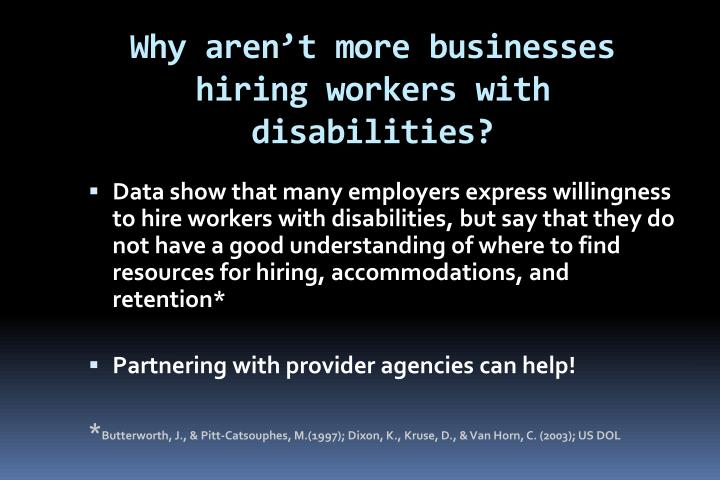 Why aren't more businesses hiring workers with disabilities?