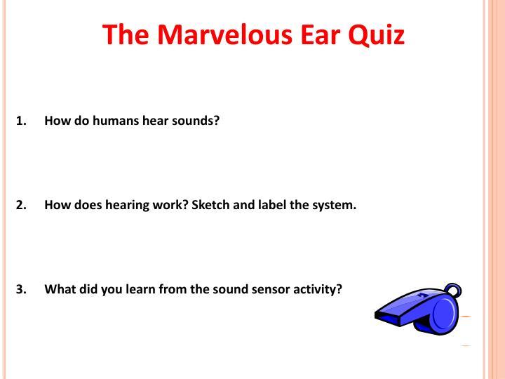 The Marvelous Ear Quiz