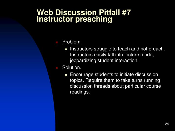 Web Discussion Pitfall #7