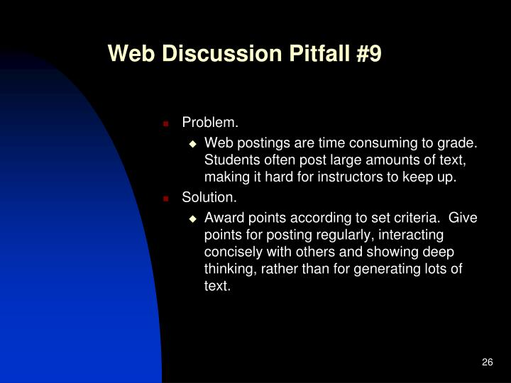 Web Discussion Pitfall #9