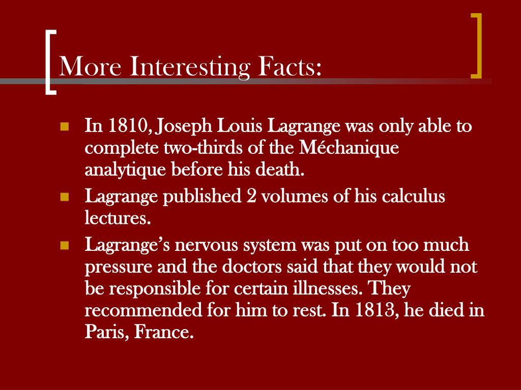 PPT - Joseph Louis Lagrange PowerPoint Presentation - ID:1432967